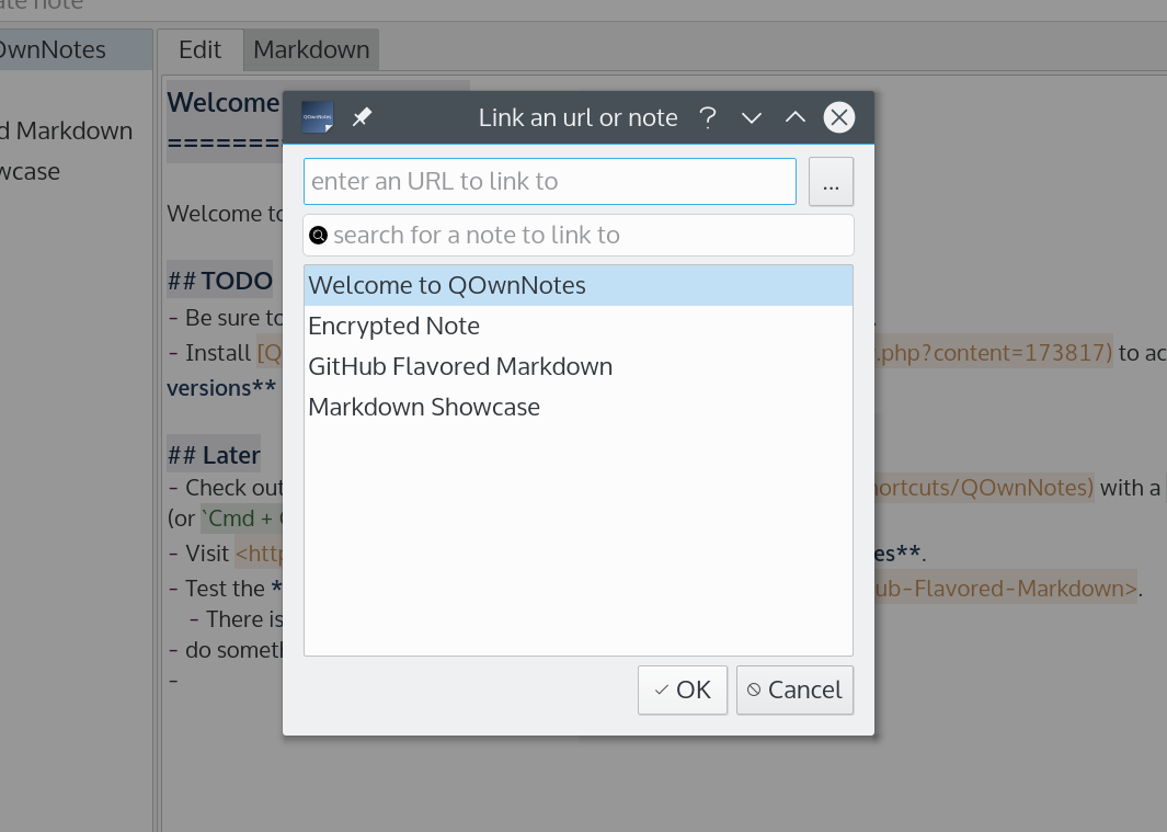Screenshot for QOwnNotes