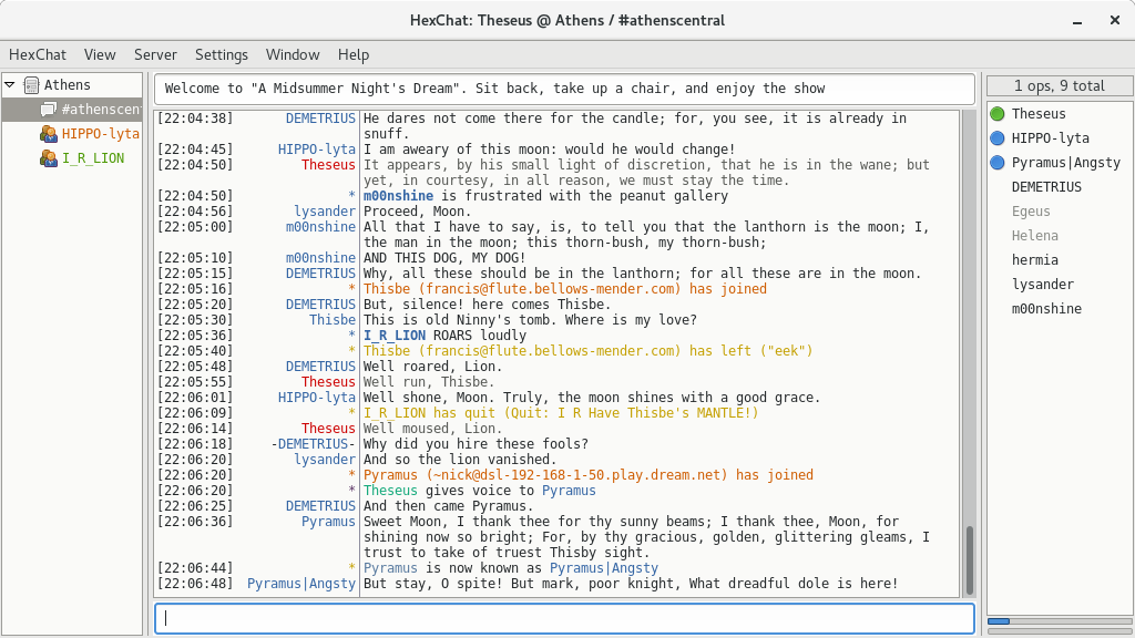Screenshot for HexChat