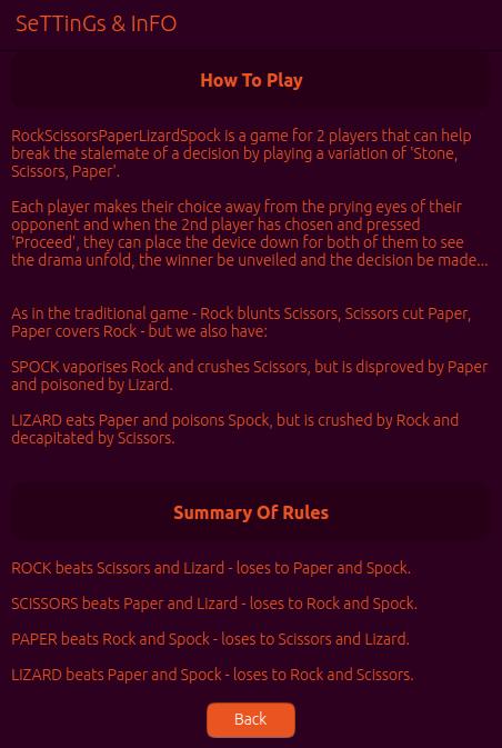 Screenshot for rockscissorspaperlizardspock-snap