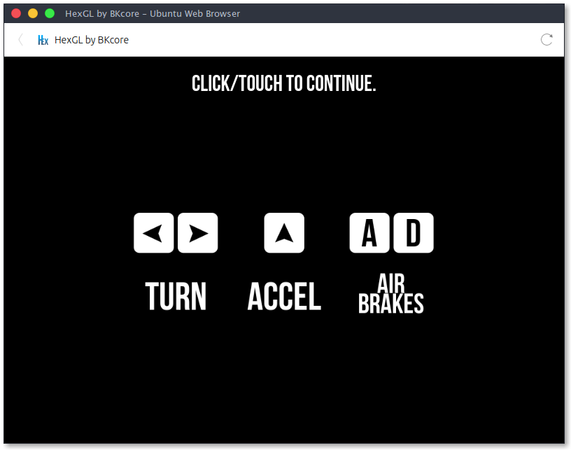 Screenshot for fcole90-hexgl-webapp