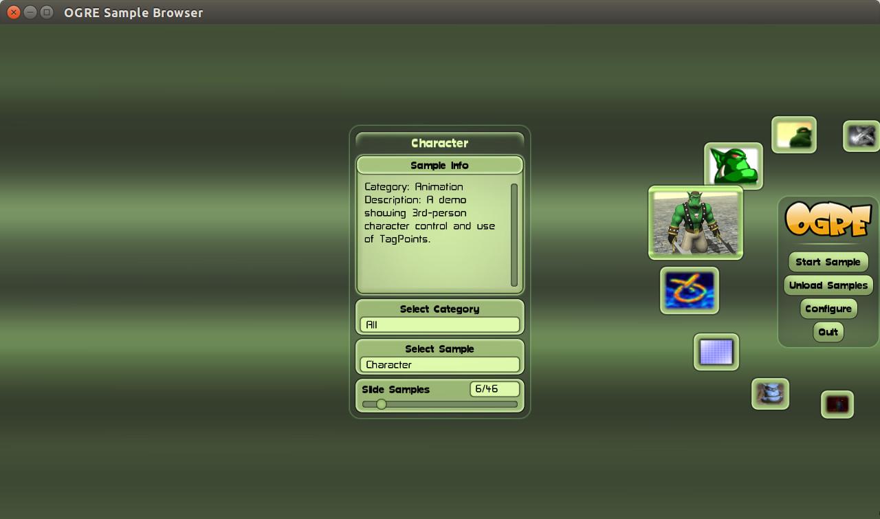Screenshot for OGRE Sample Browser