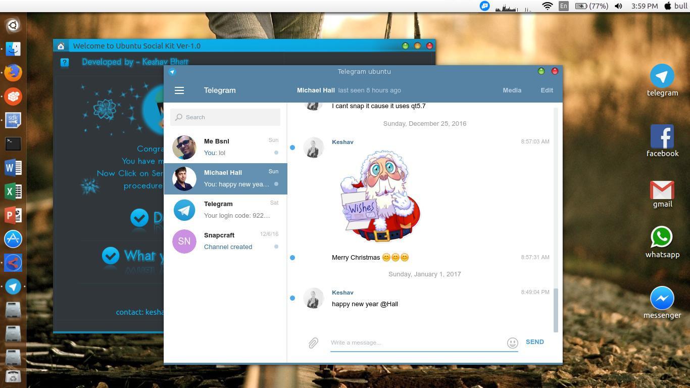 Screenshot for Ubuntu Social Media Kit