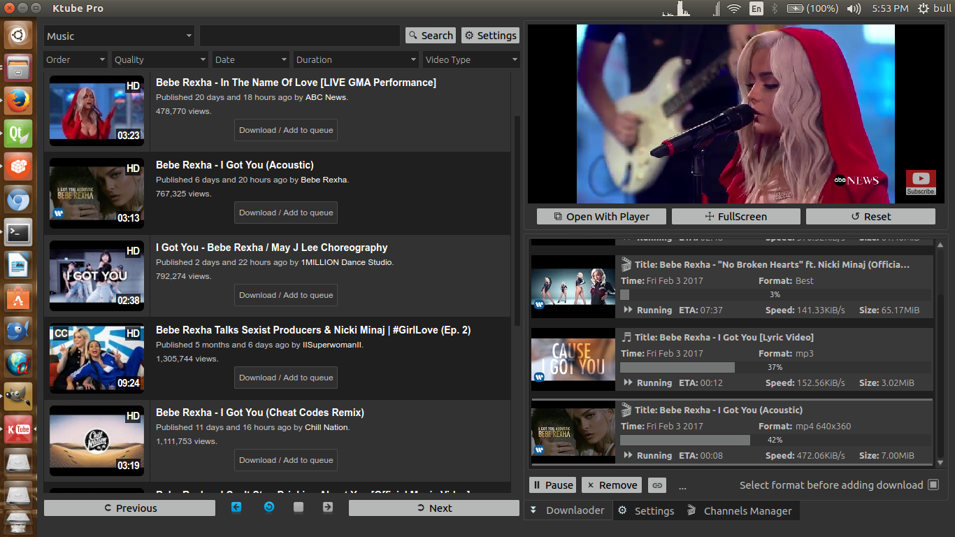 Screenshot for Ktube Media Downloader