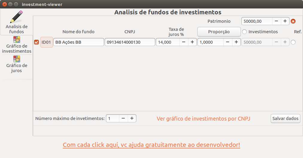 Screenshot for investment-viewer