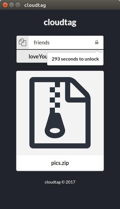 Screenshot for cloudtag