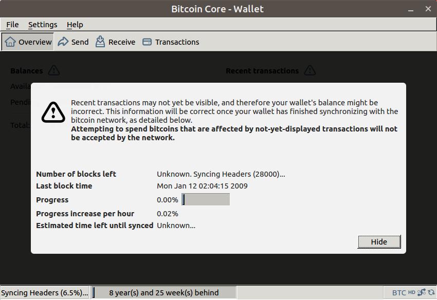 Screenshot for bitcoin