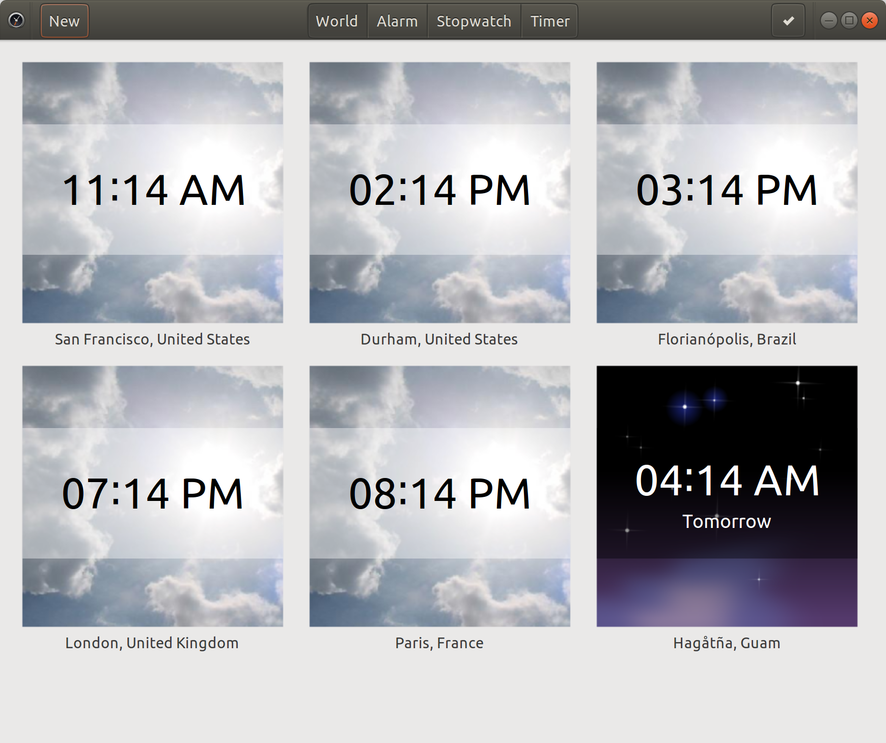 Screenshot for GNOME Clocks