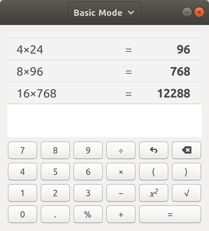 Screenshot for gnome-calculator