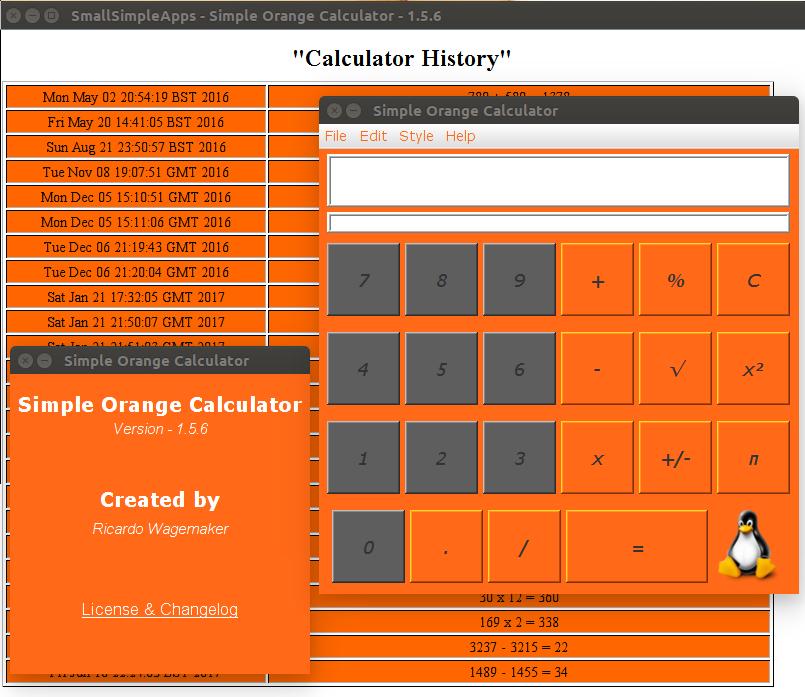 Screenshot for orangecalc