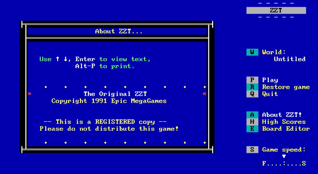Screenshot for zzt