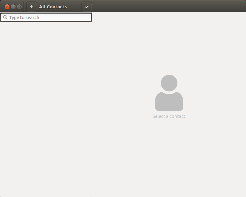 Screenshot for GNOME Contacts