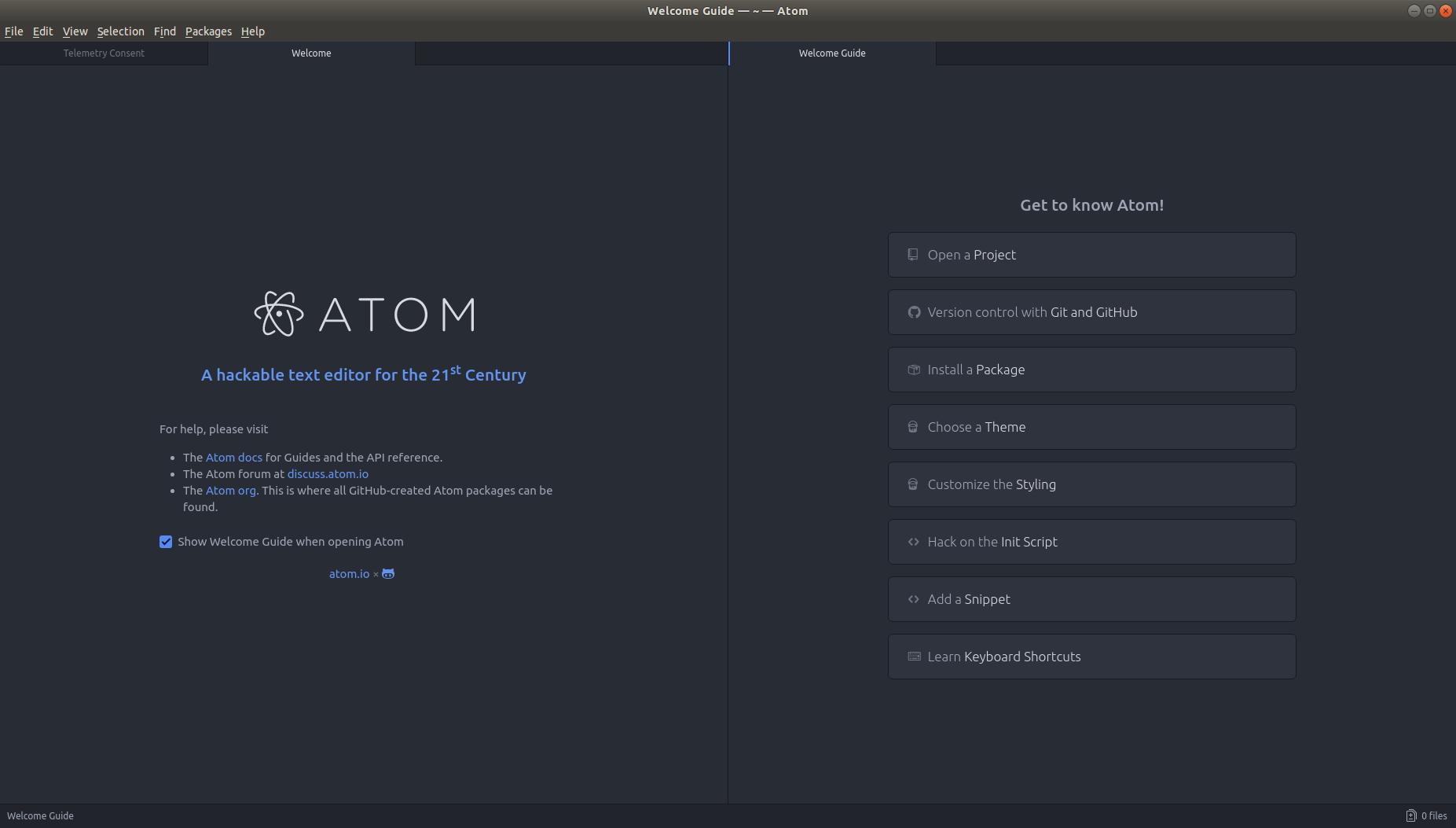 Screenshot for Atom