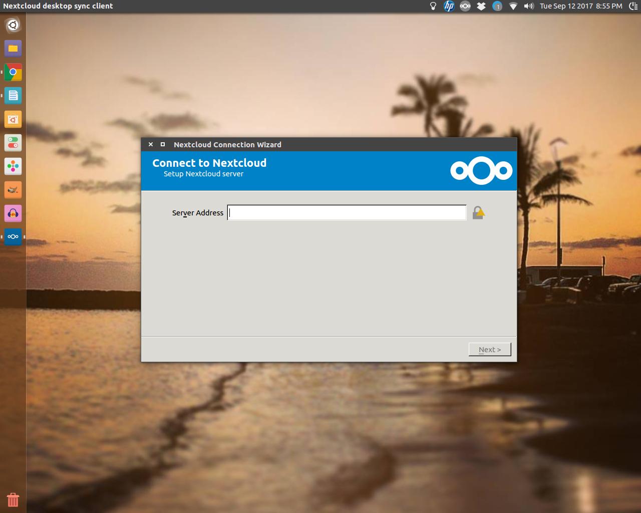 Screenshot for nextcloudclient
