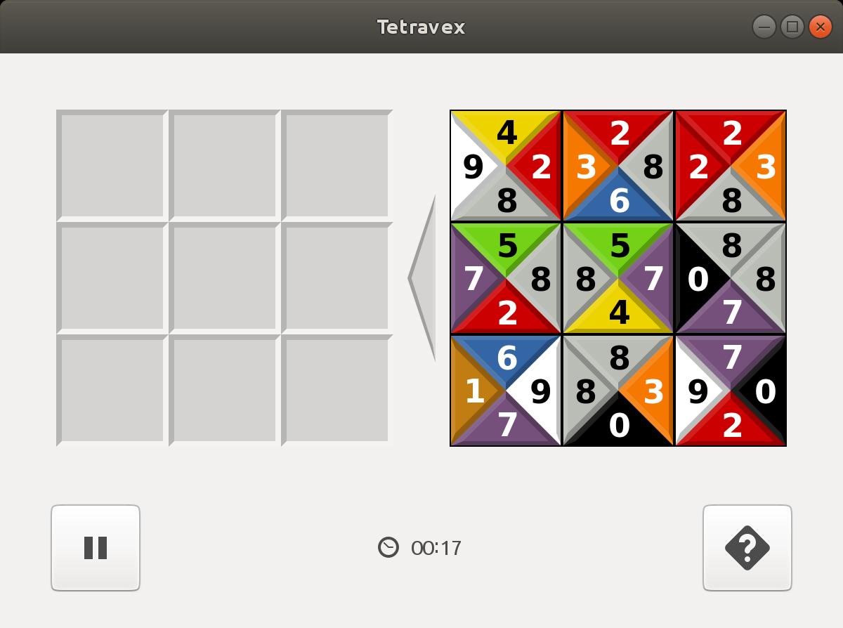 Screenshot for gnome-tetravex