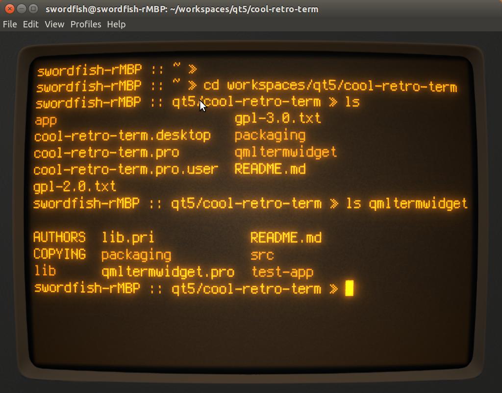 Screenshot for cool-retro-term