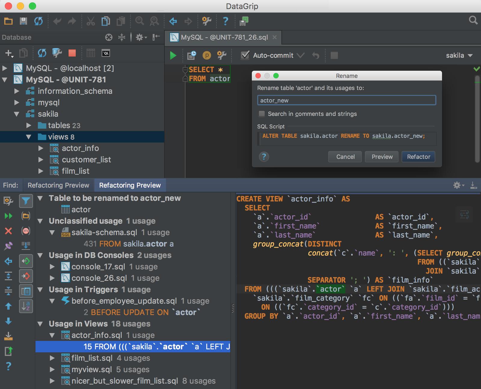 Screenshot for DataGrip