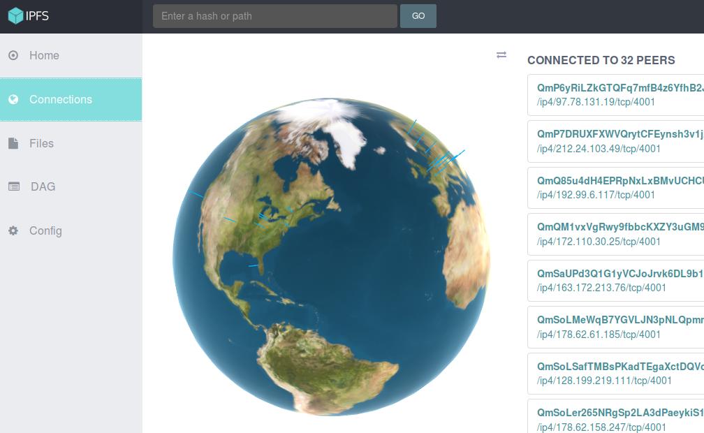 Screenshot for ipfs