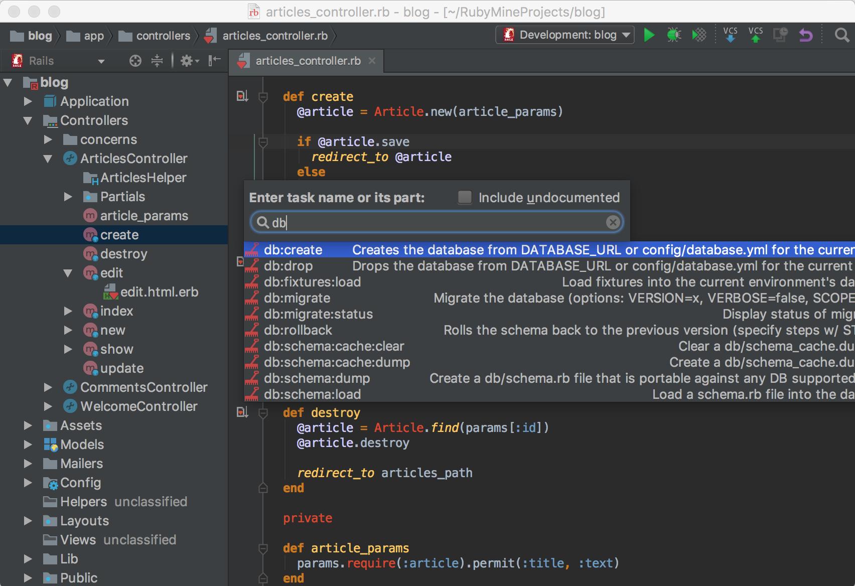Screenshot for RubyMine