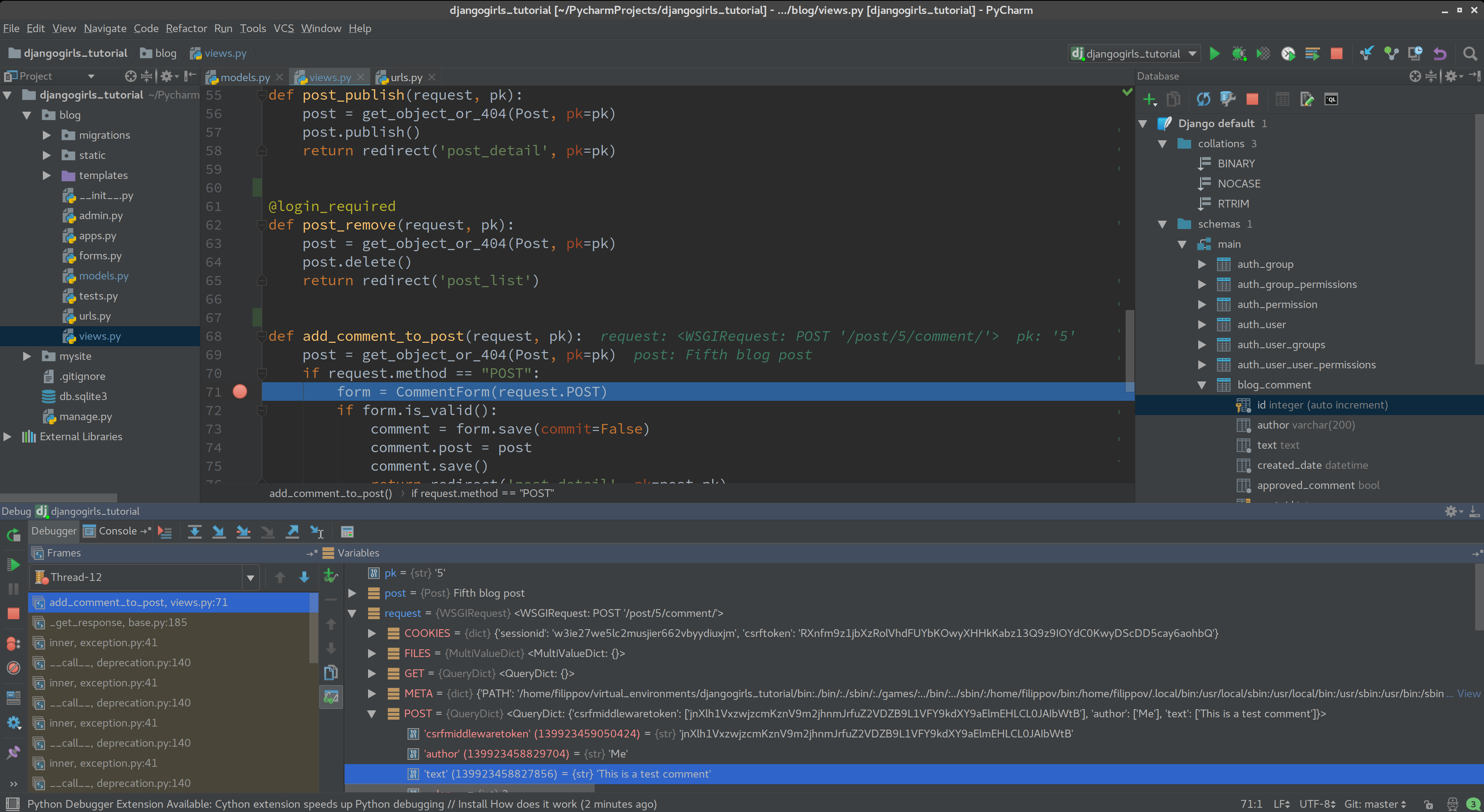 Screenshot for PyCharm Pro