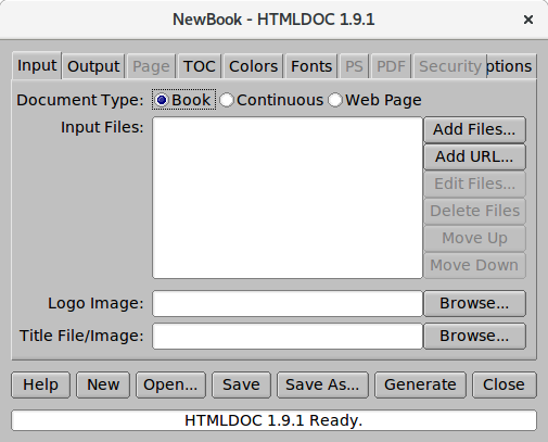 Screenshot for htmldoc