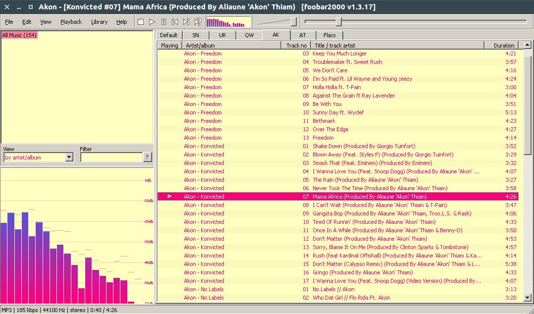 Screenshot for foobar2000