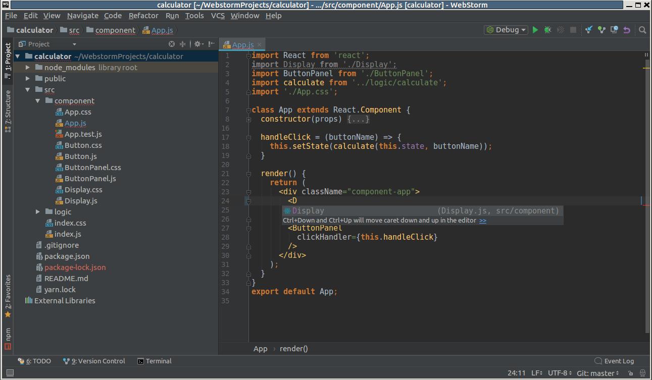 Screenshot for WebStorm
