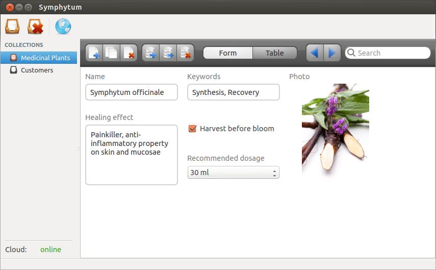 Screenshot for Symphytum