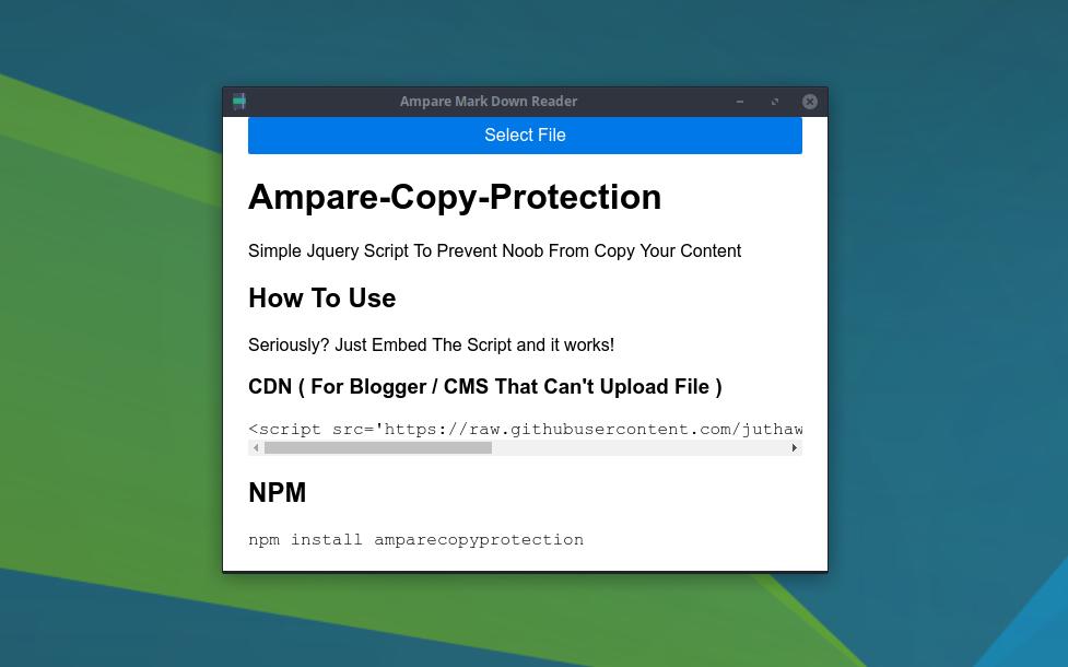 Screenshot for Ampare Markdown Reader