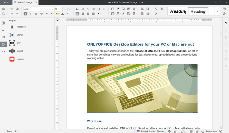 Screenshot for onlyoffice-desktopeditors