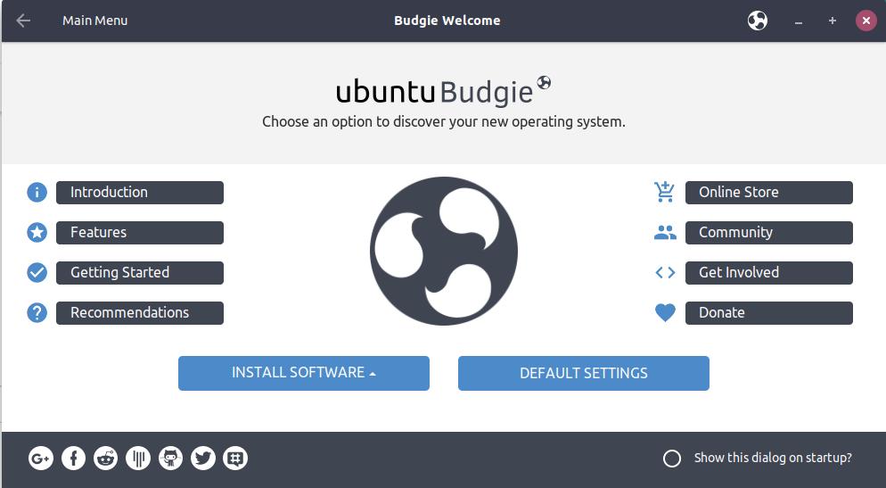 Screenshot for ubuntu-budgie-welcome