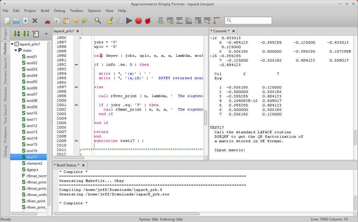 Screenshot for simplyfortran