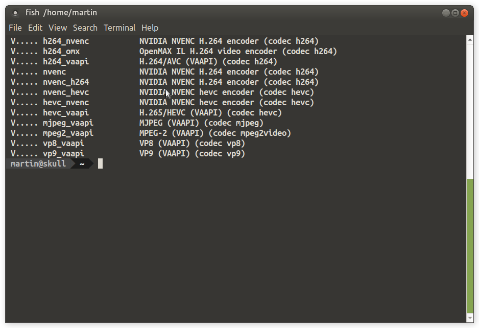 Screenshot for ffmpeg