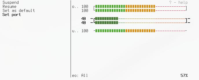Screenshot for pulsemixer
