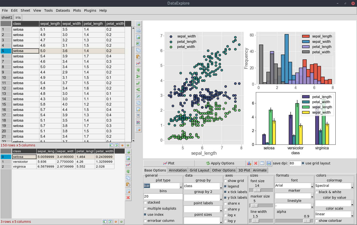 Screenshot for dataexplore