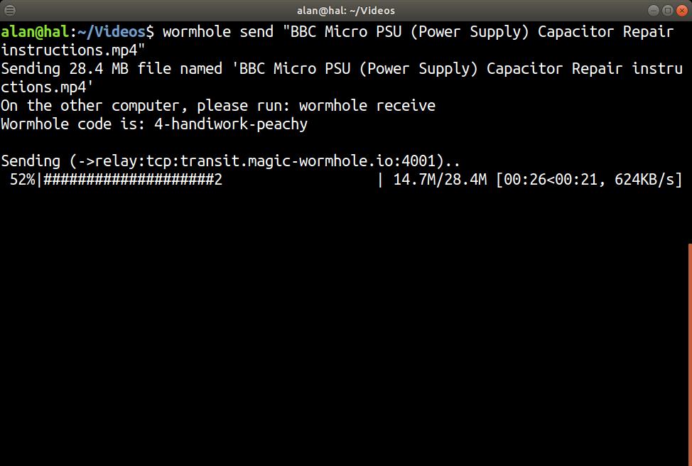 Screenshot for wormhole