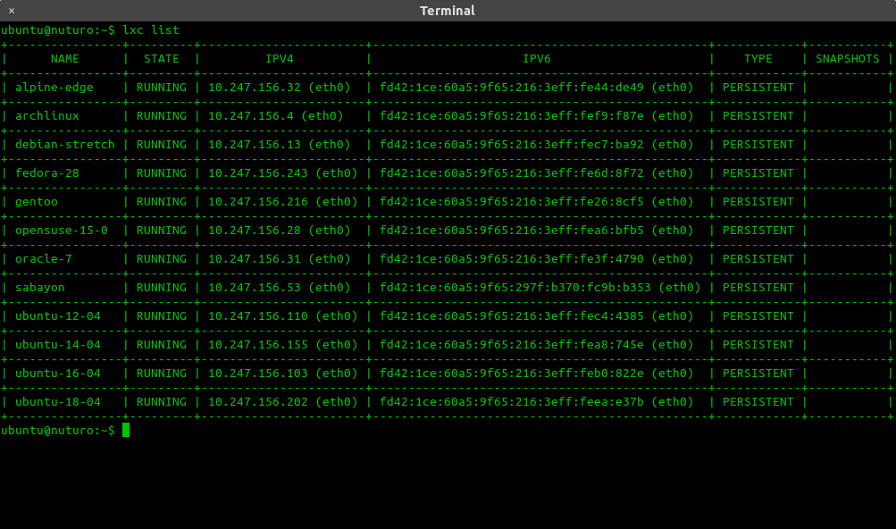 LXD screenshot