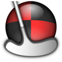 Icon for neverputt packaged as a kiosk snap